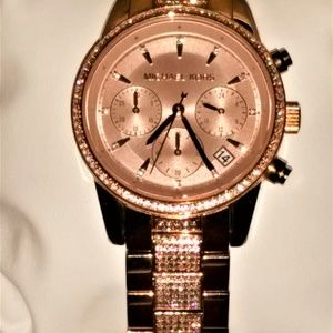 Michael Kors Ritz Rose Gold Ladies Watch #6485